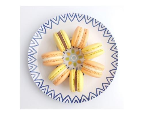 Макаронсы - французское миндальное печенье с начинкой, 5 шт