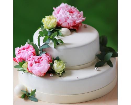 Свадебный торт 2х ярусный