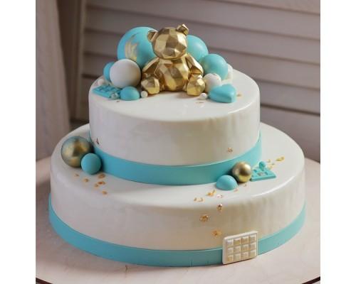 Муссовый ярусный торт
