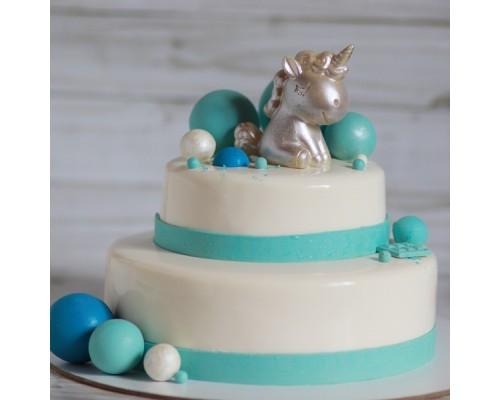 Торт 2 ярусный для девочки на день рождения