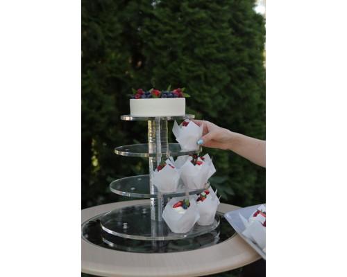 Аренда ярусной подставки для торта и пирожных (капкейков)