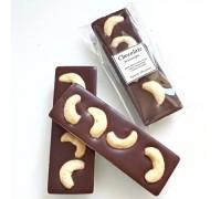 Натуральный шоколад ручной работы с орехами Кешью без сахара 25 гр.