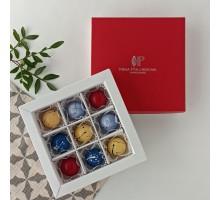 Подарочный набор авторских эксклюзивных корпусных конфет для женщин в коробке 9 шт