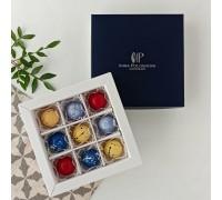 Подарочный набор авторских эксклюзивных корпусных конфет для мужчин в коробке 9 шт