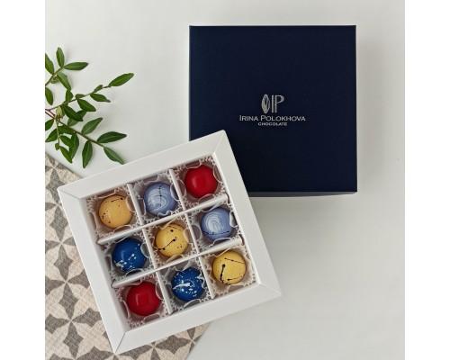 Подарочный набор корпусных конфет для мужчин в коробке 9 шт
