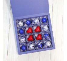 Подарочный набор авторских эксклюзивных корпусных конфет для мужчин в коробке 16 шт