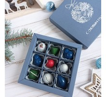 Новогодний набор авторских эксклюзивных корпусных конфет в коробке 9 шт