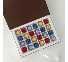 Подарочный набор авторских эксклюзивных корпусных конфет для мужчин в коробке 25 шт
