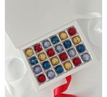 Набор авторских эксклюзивных корпусных конфет на свадьбу (годовщину свадьбы) в коробке 25 шт