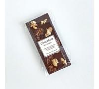Натуральный шоколад ручной работы с орехом Грецким и инжиром без сахара 50 - 55 гр.