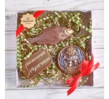 Шоколадный набор Рыбаку, 225 гр