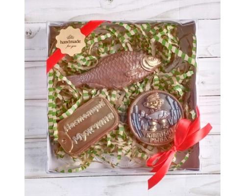 Шоколадный набор Рыбак (3 фигуры)