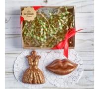 Шоколадная фигурка девушке Платье и губы, 150 гр