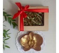 Шоколадная фигурка девушке Орхидея, 75 гр