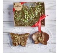 Шоколадная фигурка девушке Бабочка и орхидея, 150 гр