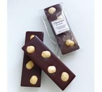 Натуральный шоколад ручной работы с орехами Фундук без сахара 25 гр.