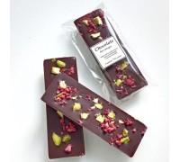 Натуральный шоколад ручной работы Малина фисташка без сахара 25 гр.