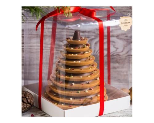 Шоколадная елка карамелизованный шоколад