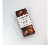Натуральный шоколад ручной работы с орехом Миндаль без сахара 50 - 55 гр.