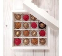 Подарочный набор трюфель конфет в коробке 16 шт