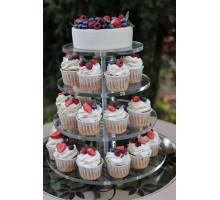 Подставка для торта и пирожных (капкейков) ярусная