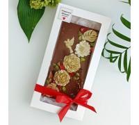 Шоколадная открытка молочный шоколад Фантазийная, 100 - 120 гр