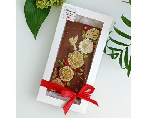 Шоколадная открытка молочный шоколад Фантазийная
