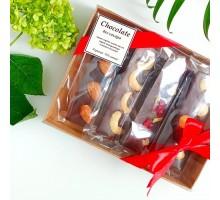 Шоколад ручной работы без сахара в упаковке 4х25 гр