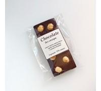 Натуральный шоколад ручной работы с орехом Фундук без сахара 50 - 55 гр.