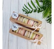 Макаронсы - французское миндальное печенье с начинкой, 6 шт