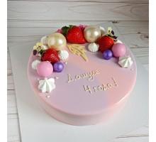 Торт на день рождения ребенку, дочке, d14 см, 0,6-0,7 кг