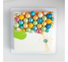 Торт на день рождения ребенку, дочке, квадратный 20 см, 1,3 - 1,5 кг