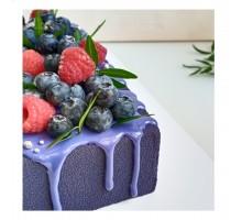 Торт на день рождения ребенку, дочке, квадратный 24 см, 2,8 - 3 кг