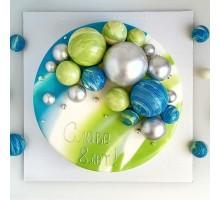 Торт на день рождения ребенку, сыну, d14 см, 0,6-0,7 кг