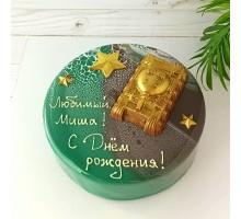Торт на день рождения ребенку, сыну, d18 см, 1,1 - 1,3 кг