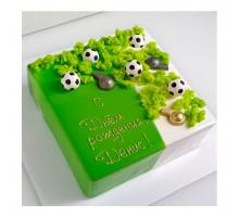 Торт на день рождения ребенку, сыну, квадратный 20 см, 1,3 - 1,5 кг