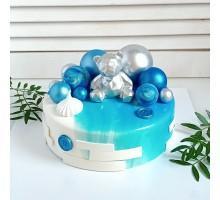 Торт на день рождения ребенку, сыну, d24 см, 1,8 - 2 кг