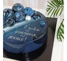 Торт на день рождения мужчине, мужу, папе, дедушке d24 см вес 1,8 - 2 кг