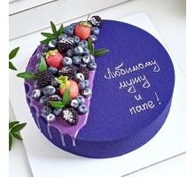 Торт на день рождения мужчине, мужу, папе, дедушке d26 см вес 2,3 - 2,5 кг