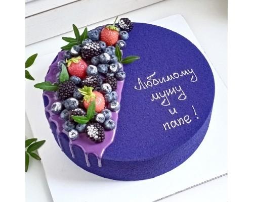 Торт на день рождения мужчине, мужу, папе, дедушке d26 см