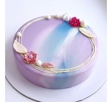 Торт на день рождения девушке, женщине, жене, маме, бабушке d14 см вес 0,6-0,7 кг