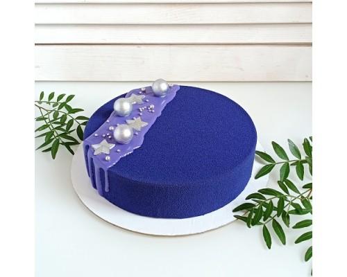 Торт на день рождения девушке с велюром d 24 см