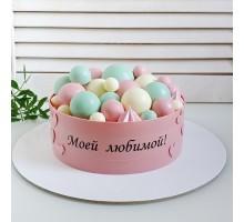 Торт на день рождения девушке, женщине, жене, маме, бабушке d26 см вес 2,3 - 2,5 кг