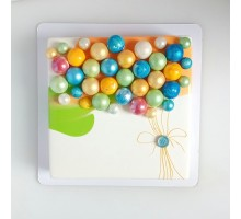 Торт на день рождения девушке, женщине, жене, маме, бабушке квадратный 20 см вес 1,3 - 1,5 кг