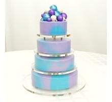 Ярусный торт на день рождения на подставке 6,5 - 7 кг