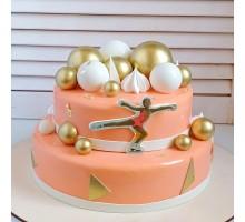 Торт ярусный на день рождения девушки вес 3 - 3,2 кг