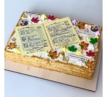 Торт на выпускной в школу (медовик или бисквит)