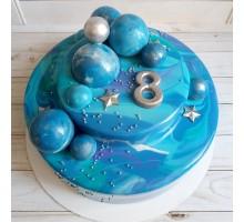 Торт 2 ярусный для мальчика на день рождения вес 3 - 3,2 кг