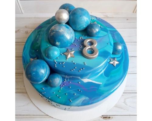 Торт 2 ярусный для мальчика на день рождения