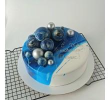 Торт КОСМОС для мальчика, d24 см, 1,8 - 2 кг